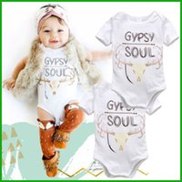 Wholesale Sell Spring Letter - fashion Infant toddler baby boys girls lovely bodysuits outfit one piece avaialble newborn rompers costume hot selling sleepwear jumpsuits
