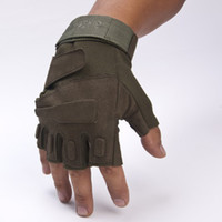 Wholesale Outdoor Sport Half Finger Gloves Gym Fingerless Military Tactical Airsoft Hunting Cycling Bike Gloves Half Finger Gloves