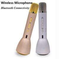Wholesale New Arrival K088 small professional bluetooth handheld karaoke microphone Player for Android Smartphones Ipad Ipod Touch