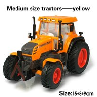 Wholesale Alloy engineering car tractor toy bulldozer model farm vehicle belt boy toy car model children s Day gifts
