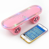 audio light switch - Bluetooth Wireless Speaker with Led Light MP3 Player Portable Speakers Skateboard Stereo Speakers Support TF Card Handsfree Mobile Audio