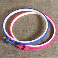 Wholesale 2pcs set Blue And Pink Plastic Punch Needle Hoop Embroidery Tool DIY Sewing Tool Accessories cm x cm quot x7 quot