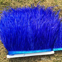 Wholesale Ostrich Feather Trimming on Satin Header meters Ostrich Feather Fringe Feather Boa Stripe Ostrich Feather Trim Fringe for Fancy Dress