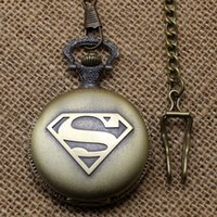 coupons - Watches Clocks Pocket Fob Watches fashion classic superman pocket watch with chian Coupon for price good quality P442C