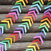 arrow paper party - Rainbow Chevron Arrows Garland Bunting paper garland Baby or Bridal Shower Banner Wedding Decor Photo Backdrop