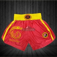 Wholesale Hot Seller Combat Pants Shorts Muay Thai Shorts Boxing Pants Shorts Boxing Trunks Red and Black