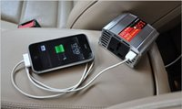 Wholesale Car power inverter V DC to V V AC Watt voltage converter notebook power adapter USB power port