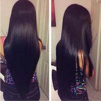 al por mayor bundles-La extensión del pelo 7A brasileño del pelo recto humano recto Chiness pelo de seda de la armadura de lotes barato al por mayor del pelo sin procesar de 8