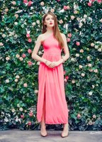 Wholesale new arrival rayon sexy slim one shoulder women evening bandage dress pink ankle length H408