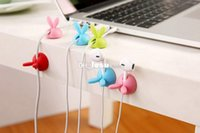 Wholesale 4pcs pack Rabbit Cable Drop Clip Desk Tidy Organiser Wire Cord Lead Holder