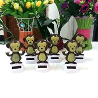 Cheap Best Wholesale Price 120 Pieces Per Lot Swing Under Full Light No Battery Novelty Gifts Home&car Decoration Solar Powered Dancing Monkey