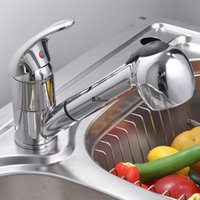 Wholesale Pull Out Spray Faucet Single Lever Swivel Spout Kitchen Sink Faucet