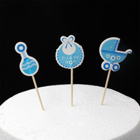 Wholesale Baby Wagon Party cupcake toppers picks decoration for Kids Birthday party Baby Shower Cake favors Decoration supplies