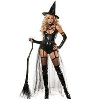 beauty tv shows - 2016 New Arrival Women Cosplay Halloween Theme Costume Nightclub Show Stage Costume Halloween Witch Game Sexy Four piece Dress
