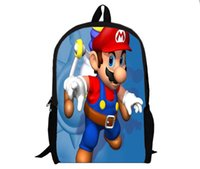 Wholesale Super Mario Backpack Cartoon and durable used for all different ages HD Printed for students