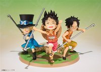 big brother movie - 2016 Kawaii F zero Anime One Piece cm set Luffy Ace Sabo brother PVC Action Figure Toys Dolls