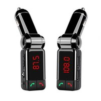 Wholesale BC06 Bluetooth Car Kit BT Car Speaker phone Handsfree Dual USB Car Charger mm AUX IN FM Transmitter For Samsung iPhone Mobile