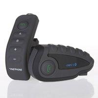 Wholesale V8 BT Interphone with Remote Controller FM NFC Riders Bluetooth Motorcycle Intercom M Intercomunicador V8 motos