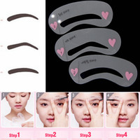 Wholesale Many Styles Reusable Grooming Stencil Makeup Shaping Fashion Drawing Card Eyebrow Template DIY Tools Accessories