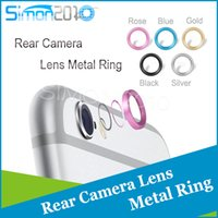 Wholesale Unique Fashion rear metal circle ring cellphone Camera Lens protector for iphone6 quot plus quot
