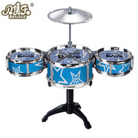 Wholesale Kids Toys Jazz Drum Sets Musical Instrument Drum Kit Baby Infant Jazz Drum Rock Set Music Educational Toy For Children