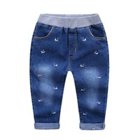Wholesale 2016 kids clothes kids clothing boys clothing boys clothes autumn Cotton jeans Children embroidery goose denim trousers of the girls