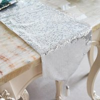 Wholesale Fashion sequins simple modern table cloth cloth bed s desk cloth bed flag table mats colors