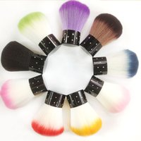 Wholesale 1Pcs Colorful Nail Brush For Acrylic UV Gel Nail Art Dust Cleaner Washing Nail Dust Brushes Decorations Tools