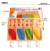Wholesale 2016 Hot Sell High Quality Montessori Wooden Number Math Game Intelligence Development Stick Preschool Educational Enlightenment Toys