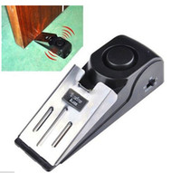 Wholesale 1pcs dB stop system Security Home Wedge Shaped Door Stopper Alarm Block Blocking Systerm
