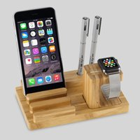 Wholesale bamboo wood mobile phone holder bracket Cell Phones Mount Tripod Mount Adapter Stand