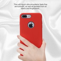 apples red inside - ROCK Silicone Case for iPhone Plus Anti Shock Protection Phone Case for iPhone7 Plus Inch cover Colors Metal Inside Dropshipping