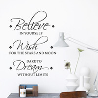 believe sayings - Believe Wish Dreams Wall Stickers Quotes Saying Characters Letters Wall Decals Bedroom Living Room Home Decorations