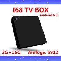 ac play - 10PCS I68II Amlogic S912 Octa Core TV Box Android GB GB G G ac Mbps BT4 RK3368 I68 k Media Play