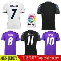DHL Mixta real madrid 16-17 superior de Tailandia camiseta de fútbol de la calidad real de la bala ronaldo camiseta de fútbol camiseta de fútbol del fútbol de Madrid Benzema Jersey