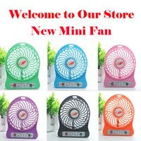 Wholesale High Quality New Colorful Mini Portable Multifunctional USB Rechargeable Kids Table Fan LED Light Battery Adjustable Speed