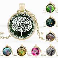 art silver jewellery - NEW Tree of Life Necklace Pendant Jewelry art and the thought of the tree Silver Family Christmas Style Charm Jewellery Gift