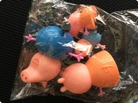 Wholesale bigmall Peppa Pink Pig cartoon Plastic doll Decoration style play house toy opp bag