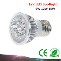 Wholesale 1PCS E27 Led Lamp Dimmable W W W AC85 V Led Bulb Cree chip Spotlight led bulb downlight lighting