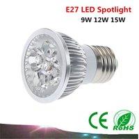 Wholesale 1PCS E27 Led Lamp Dimmable W W W AC85 V Led Bulb Cree chip Spotlight led bulb downlight lighting