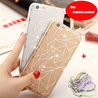 apple pendants - Exquisite pendant ultra thin shiny Soft shell iphone case TPU for iPhone s se p s sp Plus