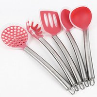 stainless steel dishwasher - 5 set Stainless Steel and Silicone Kitchen Utensil Set in Solid Coating Dishwasher Safe Non Stick Heat Resistant