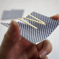 bar card tricks - 2016 New Fashion Close Up Magic Incredible Floating Card Brand Toothpick Match On Card Street Bar Trick