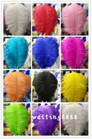 best wedding party decoration - Best Selling CM Ostrich Feather Color For Wedding Decoration To The Hotel Party Decorations Multi Purpose
