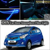 atos car - interior Ambient Light Tuning Atmosphere Fiber Optic Band Lights For Hyundai Atos Eon Car Door Panel illumination Refit