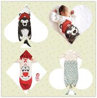bear quilt patterns - Kids Ins mermaid designed sleeping bag baby cotton anti kick Quilt Costume Romper Outfit Shark Bear little red LJJO62