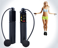 skipping rope with counter - Digital Fitness Cordless Skip Jumping Rope with Calorie and Jump Counter Exercise Wireless Crossfit Bodybuilding Fitness jump rope