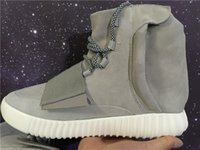 Cheap Adidas Original Kanye West Yeezy Boost 750 High Top Running Shoes For Women Man Yeezys 750 Boost Cheap Sneakers Black Grey Size 36-46