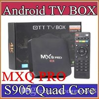 Wholesale 15X MXQ Pro K TV Box Amlogic S905 Quad Core Android Ultra K Streaming Kodi16 full load Android Box MXQ pro with WiFi HDMI DLNA D TH