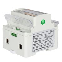 Wholesale LCD Electricity Meter Din Rail Single Phase Wattmeter Hz Power Meter Current Voltage Watt Meter Din rail KWH Hour Tester